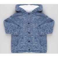 Casaco Infantil Em Fleece Mescla Com Capuz De Orelhinhas E Pelo Azul Marinho
