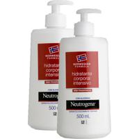 Kit Com 2 Hidratantes Corporal Neutrogena Norwegian Body S/ Fragrância 500Ml