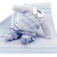 Saída De Maternidade Beth Bebê Pedro Azul Claro