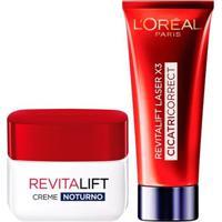 Loréal Paris Revitalift Laser X3 + Revitalift Noite Kit - Creme Antirrugas + Rejuvenescedor Facial - Unissex-Incolor