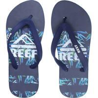 Chinelo Reef Leaves Azul