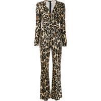 Diane Von Furstenberg Macacão Com Estampa De Leopardo - Marrom