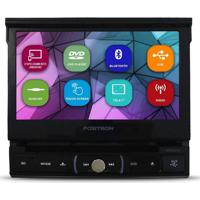 "Dvd Player Automotivo Positron Retrátil 7"" Sp6330Bt Preto"