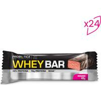 Whey Bar®- Morango- 24 Unidades- Probióticaprobiotica