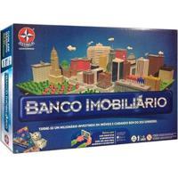 Jogo Banco Imobiliário Tabuleiro Estrela - Unissex-Azul