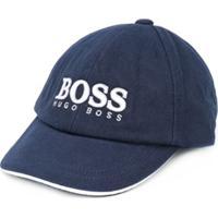 Boss Kids Boné Com Logo Bordado - Azul