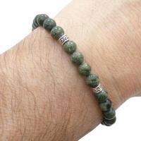 Pulseira Tuliska De Pedras Jaspe Cobra - Feminino-Verde