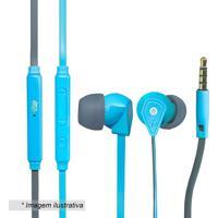 Fone De Ouvido Flat Pro- Azul & Cinza- 120Cm- P2I2Go