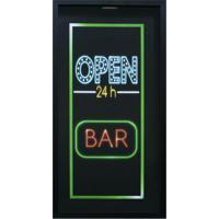 "Print Porta Tampinhas ""Open Bar""- Preto & Verde- 53Xkapos"