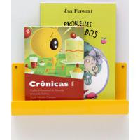 Organizador Quartinhos Porta Livros E Revisteiro De Parede Infantil Amarelo