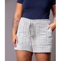 Shorts Tweed Pb Plus Size