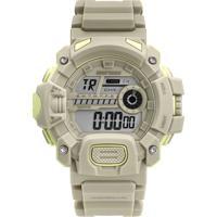 Relógio Digital Mormaii Masculino - Mo1132Ai/8C Bege Escuro