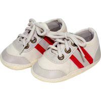 9898e2006 Farfetch; Tênis Sport Sapatinhos Baby Bege E Vermelho
