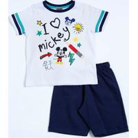Conjunto Infantil Mickey Manga Curta Disney