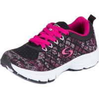 Tênis Junior Sapequinha Running - Masculino-Preto+Pink