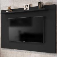 Painel Para Tv Até 50 Polegadas 1 Prateleira Kenzo 2075329 Preto Fosco - Bechara Móveis