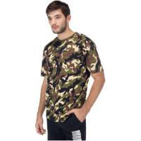 Camiseta Puma Rebel Camo - Masculina - Marrom/Verde Esc