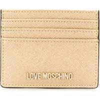 Love Moschino Logo Cardholder Wallet - Dourado