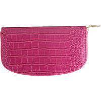 Carteira Feminino Gabriela Textura Croco Pink