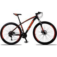 Bicicleta Aro 29 Ksw Xlt 27V Câmbios Shimano Deore M592 Freio A Disco Hidráulico Com Trava - Unissex
