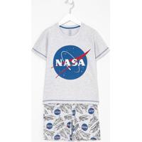Pijama Infantil Estampa Da Nasa Brilha No Escuro - Tam 5 A 14 Anos