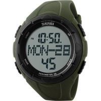 Relógio Skmei Digital Pedômetro 1122 Verde