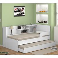 Cama Infantil Bicama Com Estante 0740 Branco Premium - Multimóveis