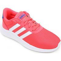 Tênis Infantil Adidas Lite Racer 2.0 K - Unissex-Rosa+Branco