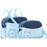 Kit Com Bolsa Maternidade E Frasqueira Meus Brinquedinhos Merver Azul