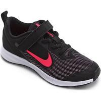 Tênis Infantil Nike Downshifter 9 Velcro Psv - Unissex-Preto+Rosa