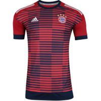 Camisa Pré-Jogo Bayern De Munique 17 18 Adidas - Masculina - Vermelho  f792f051d41bd