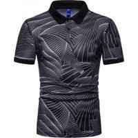 Camisa Polo Join Venture Estampada - Preto Xg