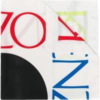 Kenzo Lenço Com Logo - Branco