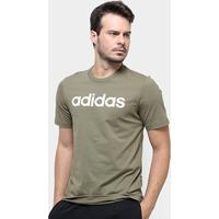 Camiseta Adidas Lin Masculina - Masculino-Verde
