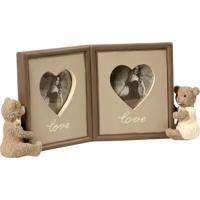 Porta-Retrato De Resina Decorativo Lovely Bears