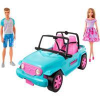 Boneca Barbie E Boneco Ken Com Automóvel - Off-Road - Mattel