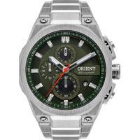 Relógio Orient Masculino Mbssc211 E1Sx Pulseira E Caixa Aço Prateado Mostrador Verde