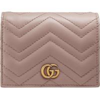 Gucci Porta-Cartões Gg Marmont - Rosa