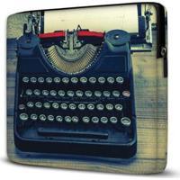 Capa Para Notebook Máquina Escrever 15.6 E 17 Polegadas - Unissex-Azul