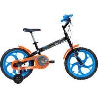 Bicicleta Caloi Hot Wheels - Aro 16 - Freio Cantilever - Infantil - Preto/Azul