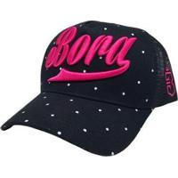 Boné Point - Unissex-Preto+Pink