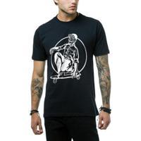 Camiseta Ukkan Skull Skate Masculina - Masculino-Preto