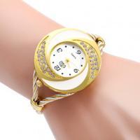 Relógio Feminino Quartzo Com Design Árabe - Golden