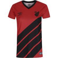 Camisa Do Athletico-Pr I 2019 Umbro - Feminina - Vermelho/Preto