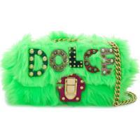 Dolce & Gabbana Bolsa Tiracolo Com Logo - Green