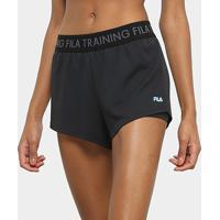 Short Fila Trainning Elastic Feminino - Feminino-Preto+Azul