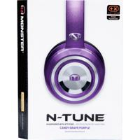 Fone Monster Ouvido N-Credible N-Tune On Ear Microfone - Unissex