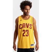Camiseta Regata Nba Adidas Swingman Cleveland Cavaliers - James - Masculino-Amarelo