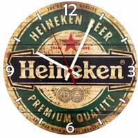 Relógio De Parede Decorativo Heineken Beer Único