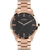 Relógio Euro Glitter Fever Feminino - Feminino-Bronze